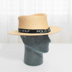 Ralph Lauren Polo Golf Straw Hat One Size Made USA